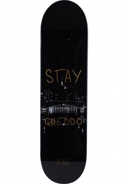 Salut Skateboards Skateboard Decks Stay Gheddo black Vorderansicht