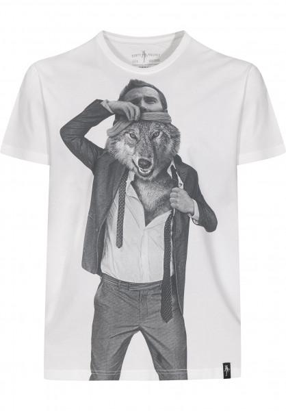 Dirty Velvet T-Shirts The Wolf Within vintagewhite Vorderansicht