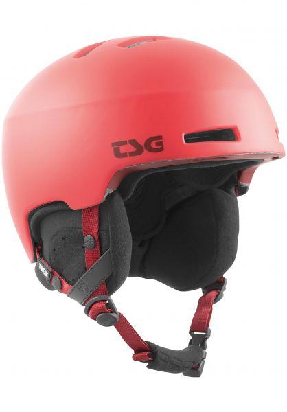 TSG Snowboardhelme Tweak Solid Color satin sonic red vorderansicht 0223002