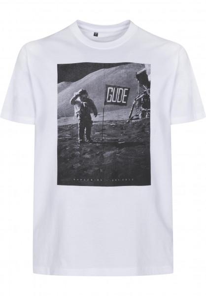 GUDE T-Shirts Mondlandung white Vorderansicht