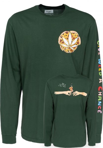 Altamont Longsleeves Give It A Chance forest Vorderansicht