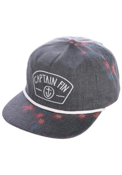 Captain Fin Caps Flora black vorderansicht 0566311