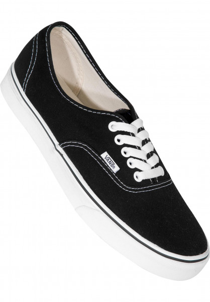 Vans Alle Schuhe Authentic black-white Vorderansicht
