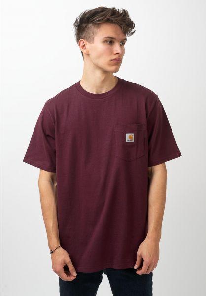 Carhartt WIP T-Shirts Pocket shiraz vorderansicht 0393365