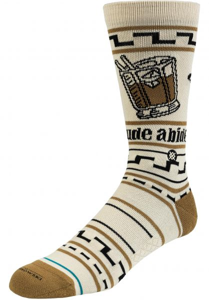 Stance Socken The Dude tan vorderansicht 0632067