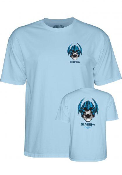 Powell-Peralta T-Shirts Welinder Nordic Skull powder-blue Vorderansicht