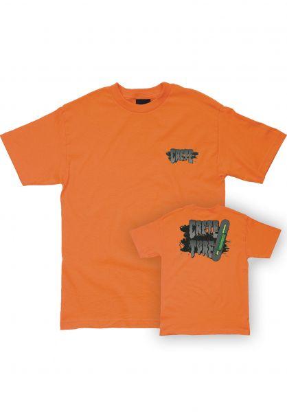Creature T-Shirts Crete Ture orange vorderansicht 0322447