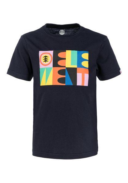 Element T-Shirts Barren Kids eclipsenavy vorderansicht 0320650