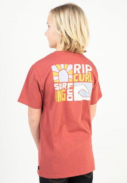 Rip Curl T-Shirts Oceanz washedred vorderansicht 0323993