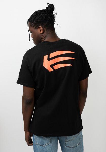 etnies T-Shirts Joslin black-red vorderansicht 0321219