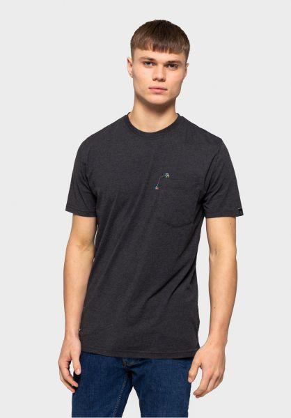 RVLT T-Shirts 1137 HEL blackmelange vorderansicht 0321075