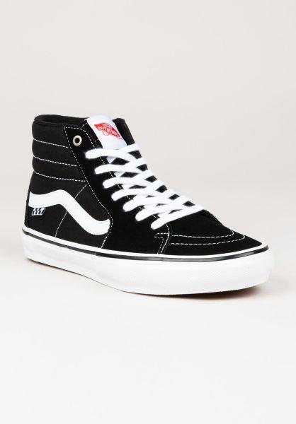 Vans Alle Schuhe Skate SK8-Hi black-white vorderansicht 0604964