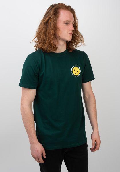 Wemoto T-Shirts Day darkgreen vorderansicht 0320327