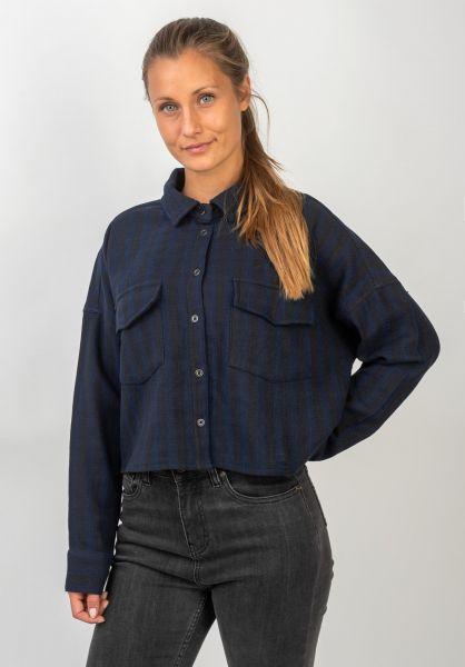RVCA Hemden langarm Vedder navy vorderansicht 0411912