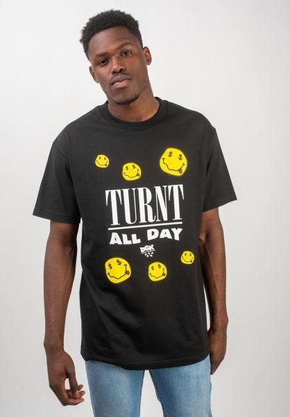DGK T-Shirts Turnt black vorderansicht 0320513
