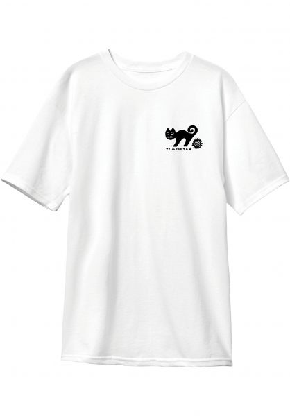 New-Deal T-Shirts Templeton Cat white vorderansicht 0322078