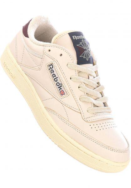 Reebok Alle Schuhe Club C 85 alabas-navy-maroon vorderansicht 0604518