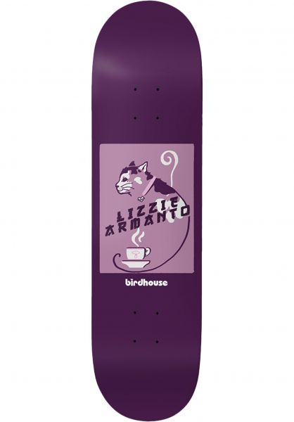 Birdhouse Skateboard Decks Lizzy Cat purple vorderansicht 0263308