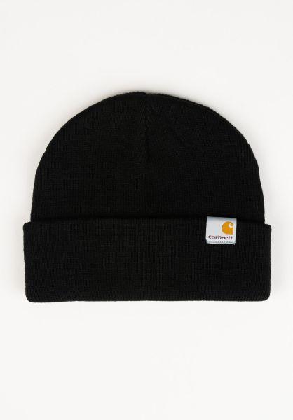 Carhartt WIP Mützen Stratus Hat Low black Vorderansicht 0572352