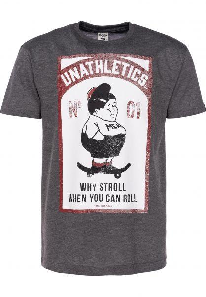 The Dudes T-Shirts Fatboy darkheathergrey Vorderansicht