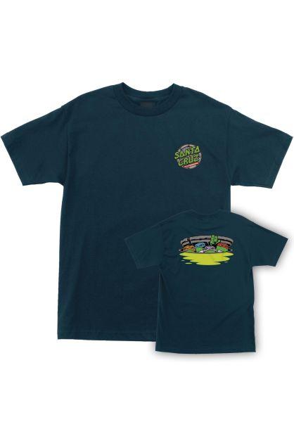 Santa-Cruz T-Shirts TMNT Ninja Turtles harbor-blue vorderansicht 0399649