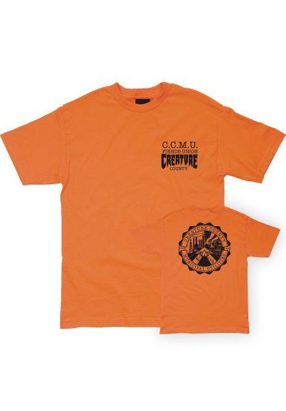 Creature T-Shirts C.C.M.U. Grunt orange vorderansicht 0396461