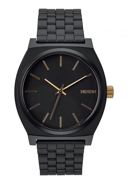 Nixon Uhren The Time Teller matteblack-gold vorderansicht 0810087