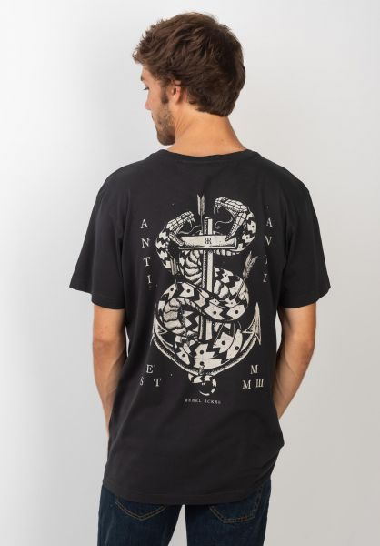 Rebel Rockers T-Shirts Doublesnake black vorderansicht 0320742