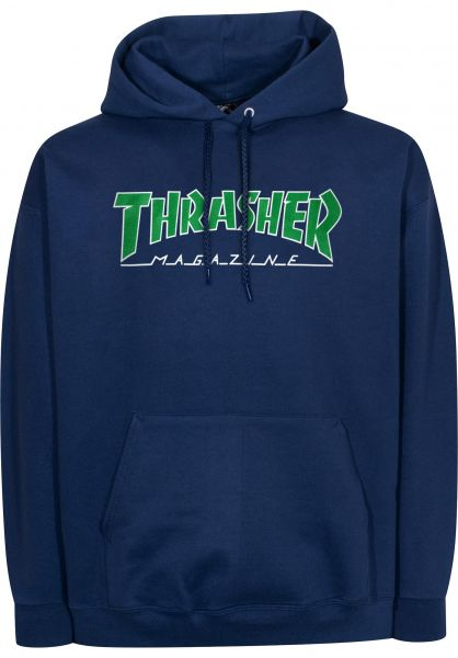 Thrasher Hoodies Outlined navy vorderansicht 0445102
