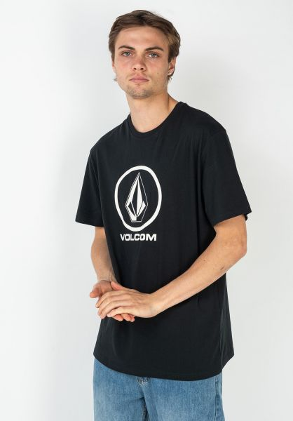 Volcom T-Shirts Crisp Stone BSC black vorderansicht 0322513