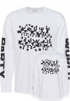 Carhartt WIP Longsleeves World Party white-black Vorderansicht