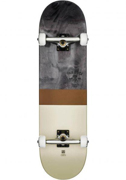 Globe Skateboard komplett Half Dip 2 black-tobacco Vorderansicht 0161453