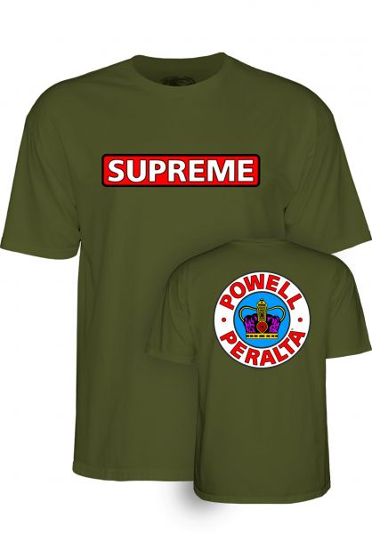 Powell-Peralta T-Shirts Supreme military-green vorderansicht 0374338