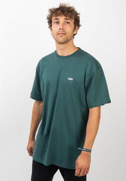 Vans T-Shirts Left Chest Logo trekkinggreen vorderansicht 0397675