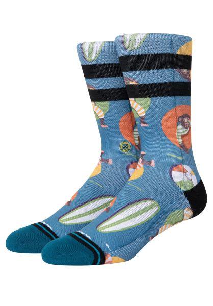 Stance Socken Monkey Chillin teal vorderansicht 0632325