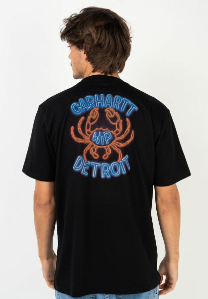 Carhartt WIP T-Shirts Neon Crab black vorderansicht 0322396