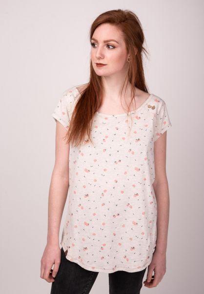 Ragwear T-Shirts Rosanna beige vorderansicht 0399356