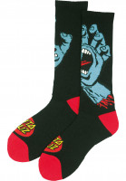 Santa-Cruz-Socken-Screaming-Hand-black-Vorderansicht