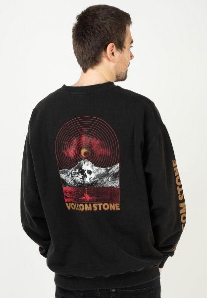 Volcom Sweatshirts und Pullover Harcid Wash Crew Fleece black vorderansicht 0423156