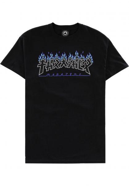 Thrasher T-Shirts Godzilla Charred black vorderansicht 0324220