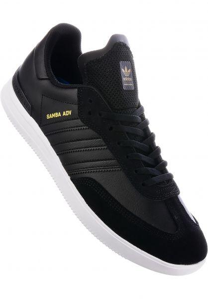 557ffa3d9 wholesale adidas skateboarding alle schuhe samba adv coreblack white gold  vorderansicht c299d a8176