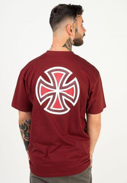 Independent T-Shirts Meld burgundy vorderansicht 0322579