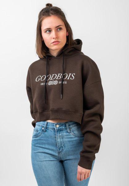 Goodbois Hoodies Classic Trademark Crop brown vorderansicht 0445743