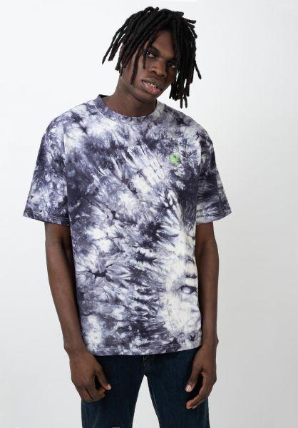 TITUS T-Shirts Chest Emblem Batik blue-batik vorderansicht 0320150