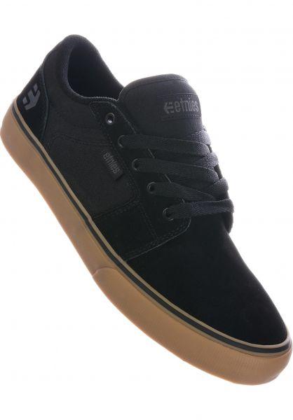 etnies Alle Schuhe Barge LS black-gum-grey vorderansicht 0602679