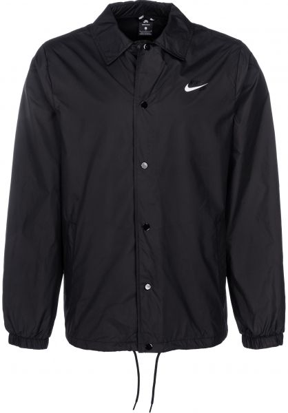 a7c4ca5a0f Nike SB Übergangsjacken Shield Jacket Coaches black-white vorderansicht  0504005