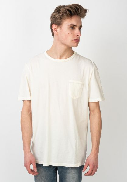 Roark T-Shirts Well Worn Light Organic offwhite vorderansicht 0322108
