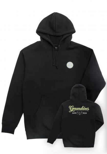 Dark Seas Hoodies x Grundens Custom Fleec Hi-Viz black vorderansicht 0445342