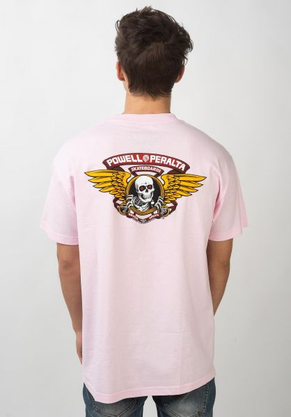 Powell-Peralta T-Shirts Winged Ripper lightpink vorderansicht 0360934
