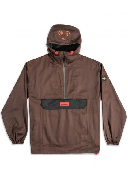 Goodbois Windbreaker Official Core Anorak brown vorderansicht 0122730